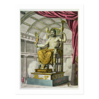 Statue of Jupiter in a Temple, from 'Costumi dei R Postcard