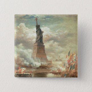 Statue of Liberty 2 Inch Square Button