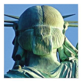 """Statue of Liberty 5.25"""" Square Invitation Card"""
