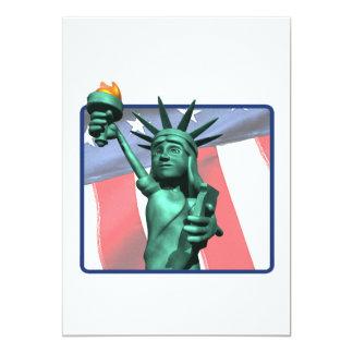 "Statue Of Liberty 5"" X 7"" Invitation Card"