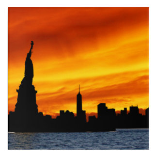 Statue OF Liberty Acrylic Wall Art