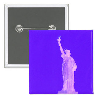 Statue of Liberty America USA Patriotic 4th July Button