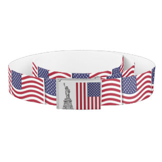 Statue of Liberty & American Flag Belt