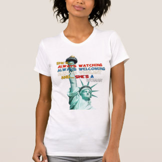 Statue of Liberty American Support T-Shirt