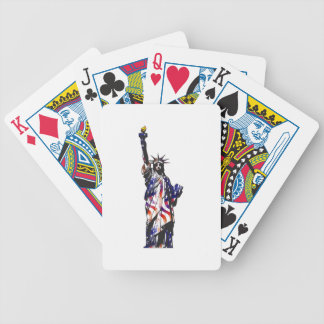 Statue Of Liberty American USA National Flag Indep Bicycle Playing Cards