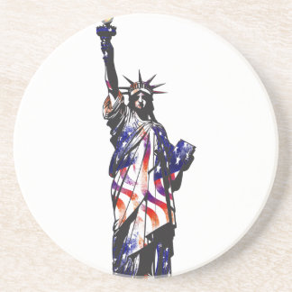 Statue Of Liberty American USA National Flag Indep Coaster