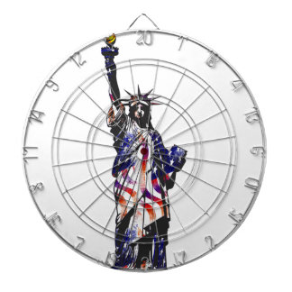 Statue Of Liberty American USA National Flag Indep Dart Board