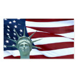Statue of Liberty and American flag Business Card Templates