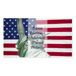 Statue of Liberty and American Flag Business Card