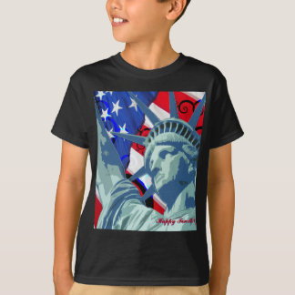 Statue of Liberty and Patriotic American Flag Shirts