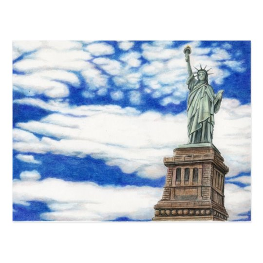 Statue of Liberty Art Post card