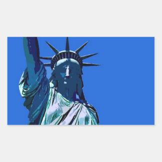 Statue of Liberty Artwork Rectangle Sticker