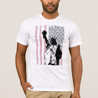Statue Of Liberty Background T-Shirt
