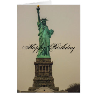 Statue of Liberty Birthday Card
