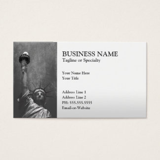 statue of liberty business card