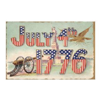 Statue of Liberty Cannon Stars & Stripes Canvas Print