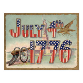 Statue of Liberty Cannon Stars & Stripes Postcard