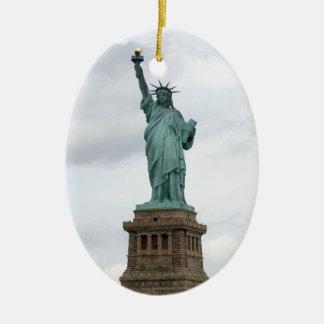 Statue of Liberty Ceramic Oval Ornament