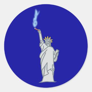 Statue of Liberty cigar statue OF liberty cigar Classic Round Sticker