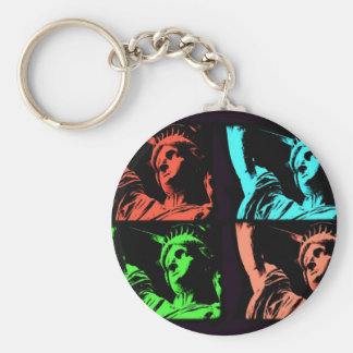 Statue of Liberty Collage Keychain
