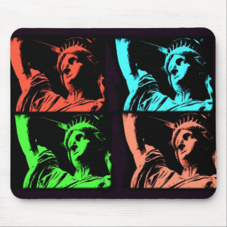 Statue of Liberty Collage Mouse Pad