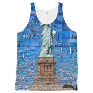 statue of liberty collage - statue of liberty art All-Over-Print tank top
