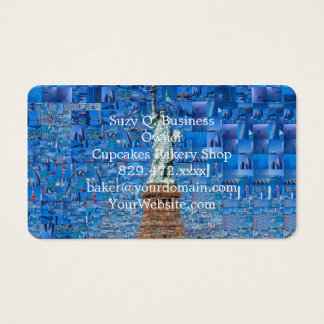 statue of liberty collage - statue of liberty art business card