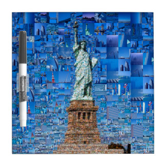 statue of liberty collage - statue of liberty art dry erase board