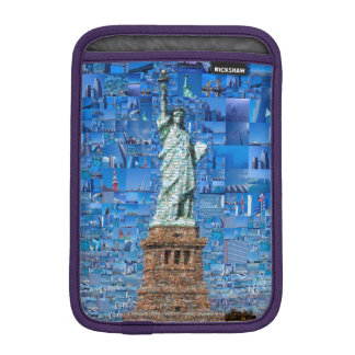 statue of liberty collage - statue of liberty art iPad mini sleeve