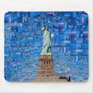 statue of liberty collage - statue of liberty art mouse pad