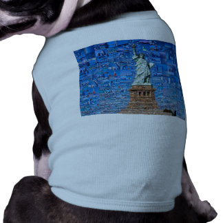 statue of liberty collage - statue of liberty art shirt