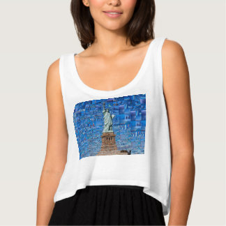 statue of liberty collage - statue of liberty art tank top