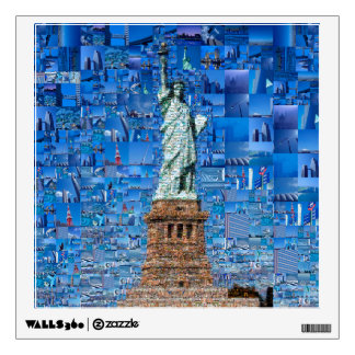 statue of liberty collage - statue of liberty art wall sticker