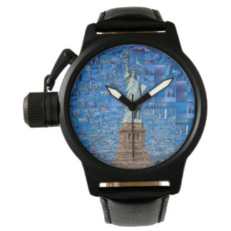 statue of liberty collage - statue of liberty art watch