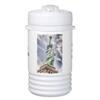 Statue of Liberty custom beverage cooler