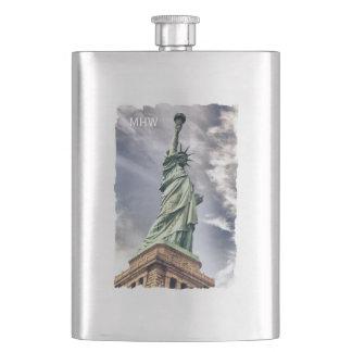 Statue of Liberty custom monogram flask