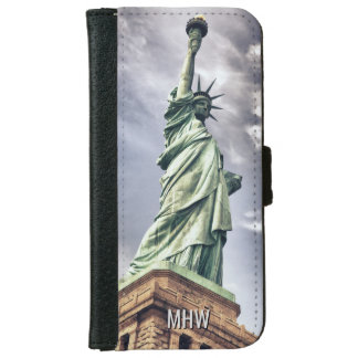 Statue of Liberty custom monogram phone wallets