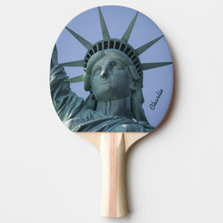 Statue of Liberty custom name ping pong paddle