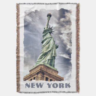 Statue of Liberty custom throw blanket