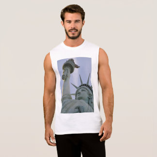 Statue of Liberty Design Sleeveless Shirt