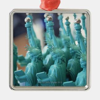 Statue of Liberty Doll Silver-Colored Square Ornament