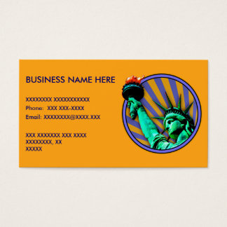 Statue of Liberty Emblem Design Business Card