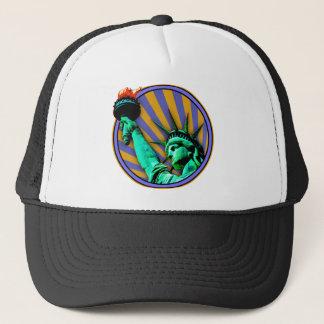 Statue of Liberty Emblem Design Trucker Hat