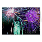 Statue of Liberty -Fireworks Card