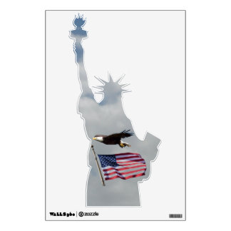 Statue Of Liberty, Flag And Eagle Wall Decal