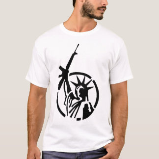Statue of Liberty holding an AR-15 up high! T-Shirt