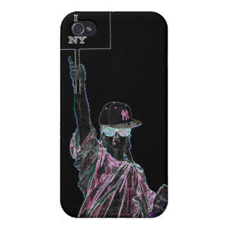 "Statue of Liberty ""I Love NY"" case iPhone 4/4S Cases"