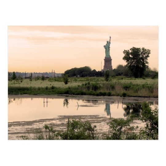 Statue Of Liberty In Morning Postcard