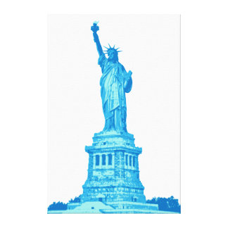 Statue of Liberty in shades of blue Canvas Print
