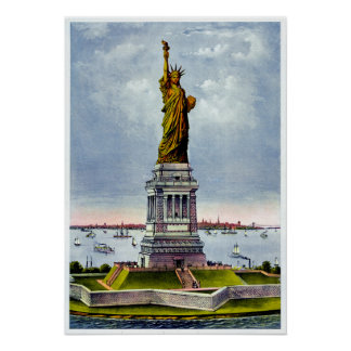 STATUE OF LIBERTY Ives) ~ Poster